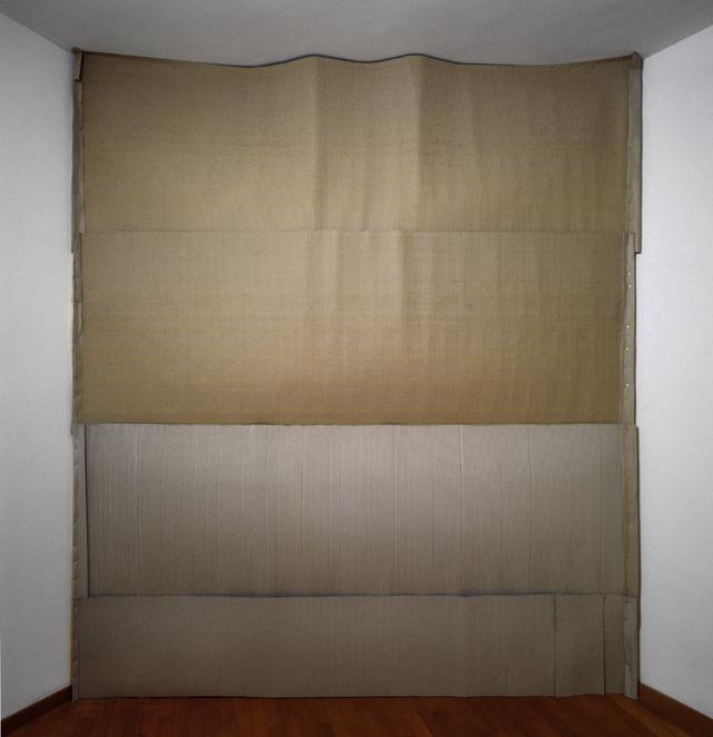 Exile, light installation, aluminium foils, cardboard, artist's flat, Rome, 2007