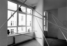 Halfway down, aluminium pipes, stones. Unbearable dissertation on a broken line, Galerie Mario Iannelli, Berlin, 2011